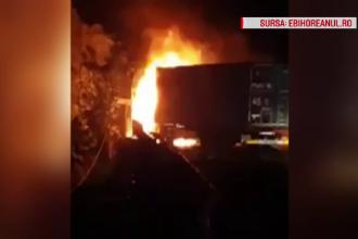 Trei persoane au ars de vii în urma unui accident pe DN 1. Cine a provocat tragedia