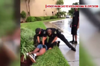 Adolescentă bătută de un polițist, în fața mall-ului. Reacția autorităților