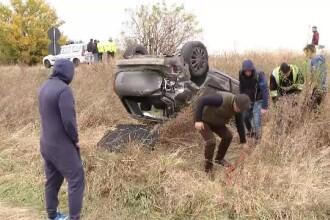 Accident în Arad, după ce doi șoferi au vrut să facă o depășire în același timp