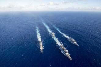 Două distrugătoare americane, urmărite de flota de război chineză. Ce misiune aveau
