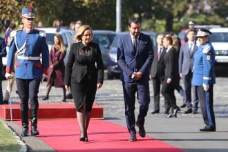 Gafa diplomatică comisă de Carmen Dan. Cu cine l-a confundat pe Matteo Salvini. FOTO