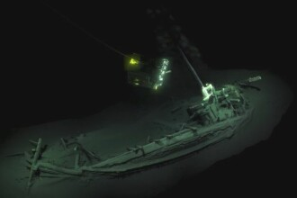 Cea mai veche navă intactă, de peste 2400 de ani, descoperită în Marea Neagră. VIDEO