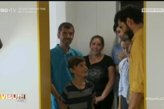 """Locuința minunată, oferită de """"Visuri la cheie"""" unei familii nevoiașe, cu 7 copii"""