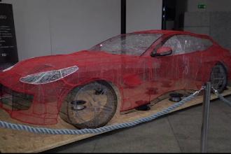 Ferrari în mărime naturală scos la o imprimantă 3D, într-o expoziție unică din Polonia