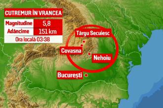 Cutremur de 5,8 în România, duminică. Seismul, resimțit în mai multe zone. Nu sunt înregistrate pagube și victime