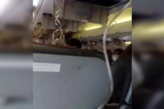 Filmul evenimentelor din avionul Blue Air care a aterizat de urgenţă. ANIMAŢIE GRAFICĂ