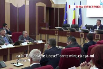 """Oprișan a atacat """"România, te iubesc"""" în ședința CJ Vrancea: """"Păcat! V-ați făcut de râs!"""""""