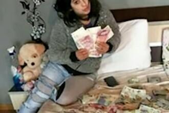 Românca din Anglia care s-a pozat într-un pat cu bani. Banda ei a spart sute de case