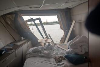 O navă de croazieră s-a ciocnit cu un cargo pe Dunăre, la Tulcea. Doi oameni la spital