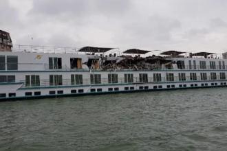 Croazieră de coşmar pe Dunăre, după ciocnirea navei cu un cargo.