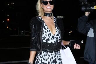 Paris Hilton, accident vestimentar. Ce s-a văzut când a coborât din maşină