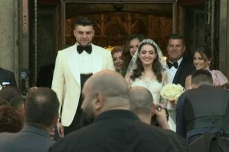 Imagini de la nunta fiicei lui Gigi Becali. Cum a arătat rochia de mireasă