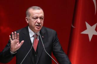 """Erdogan: Turcia """"nu va declara niciodată un armistiţiu"""" în Siria. Putin l-a invitat în Rusia"""
