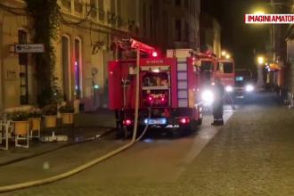 O țigară aruncată la întâmplare a distrus subsolul unei clădiri istorice din Timișoara