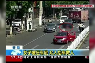Accident șocant în China. O femeie a fost călcată de două mașini în câteva secunde