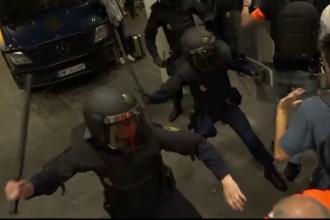Avertisment de călătorie emis de MAE, după protestele violente din Barcelona