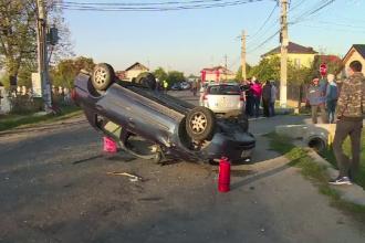 """Căruță cu 2 frați spulberată de o mașină în Dâmbovița: """"Ne-a aruncat în șanț"""""""