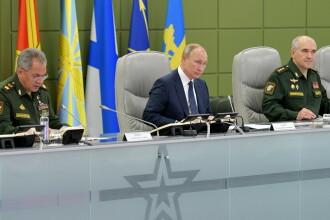 Putin supervizează tiruri cu rachete strategice, în cadrul unor manevre militare de amploare