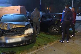 Un şofer lovit în plin de o mașină oprită într-o benzinărie. Ce explicaţie a dat apoi