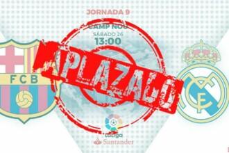 Protestele din Barcelona afectează și lumea fotbalului. El Clasico a fost anulat