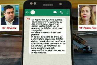 """Mesajele pe care i le-a trimis Răzvan Cuc fostei șefe Tarom în ziua moțiunii: """"Aștept numele"""""""