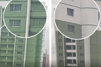 """""""Orasul interzis"""" din Coreea de Nord. Secretul apartamentelor fara geamuri sau balcoane"""