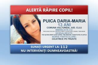 Fata dispărută în Cluj ar fi fost răpită de unchiul ei.