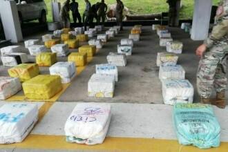 Cocaină de 750 de milioane de dolari, descoperită pe o ambarcațiune din Panama