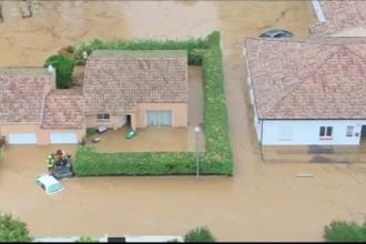 Potop în Spania şi Franţa. Regiuni întregi au fost evacuate de teama viituriilor