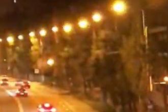 """Impact grav între 2 șoferi care făceau """"liniuțe"""" în Constanța. VIDEO"""