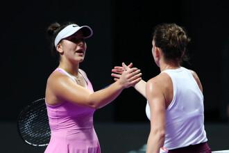 Halep - Andreescu, la Turneul Campioanelor 2019. Simona câștigă după un meci superb