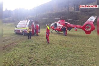 Bărbat luat cu elicopterul SMURD, după ce i-a căzut un lemn în cap