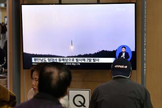 Coreea de Nord a efectuat un nou test balistic. Anunțul Coreei de Sud