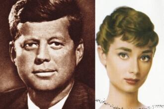 Scriitor: John F. Kennedy a avut o relaţie cu actriţa Audrey Hepburn