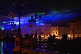 Aurora Boreală, recreată la Timișoara de un artist elvețian. S-au folosit lasere și fum