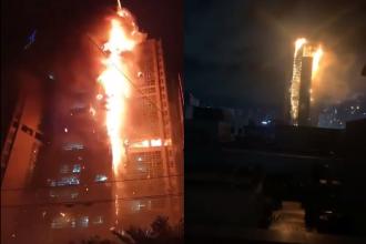 VIDEO. Un bloc de 33 de etaje din Coreea de Sud a fost cuprins de flăcări. Zeci de oameni, la spital