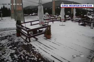 În Munții Apuseni a nins ca în povești. Cât măsoară stratul de zăpadă