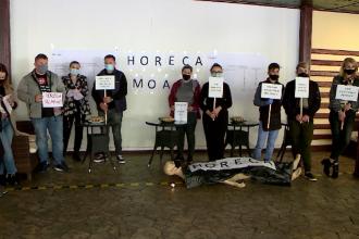 Proteste în Iași, faţă de închiderea restaurantelor şi cafenelelor la interior