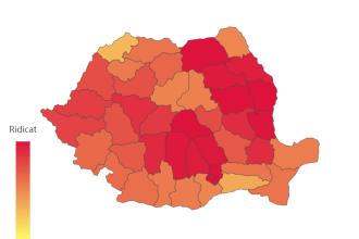 Alba, Bucureşti şi Cluj au o incidenţă a cazurilor de peste 3 la mie