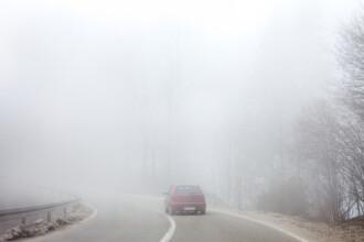 Mai mult de jumătate din țară se află sub cod galben de ceață densă. Până când este valabil