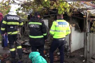 Un bătrân din județul Bacău, mort într-un incendiu provocat de jarul căzut din sobă