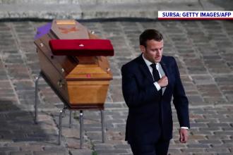 Franţa l-a omagiat pe profesorul asasinat. Macron promite intensificarea acţiunilor împotriva islamului radical
