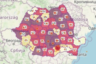 HARTA incidenței cazurilor de Covid-19. Ce orașe din România au trecut la scenariul roșu