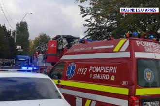 Explozie într-un apartament din Pitești. O femeie de 64 de ani și nepotul ei au ajuns la spital