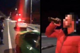 BMW urmărit 10 km de polițiști, în Rusia. Șoferul a coborât și a terminat berea