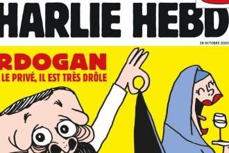 Conflictul între Turcia și Franța escaladează, după apariția unei caricaturi cu Erdogan în revista Charlie Hebdo