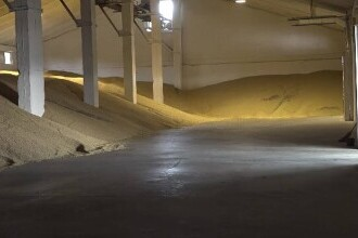 Aproximativ 200 de tone de soia modificată genetic au fost descoperite în curtea unui depozit din județul Bihor