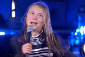 """VIDEO Greta Thunberg a cântat piesa """"Never gonna give you up"""", la un concert dedicat schimbării climatice"""