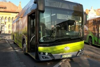 Primul autobuz total nepoluant, alimentat cu hidrogen, este testat acum și în Brașov