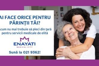 (P) Enayati Medical City: orașul medical ce pune la dispoziția pacientului vârstnic servicii medicale la standarde europene